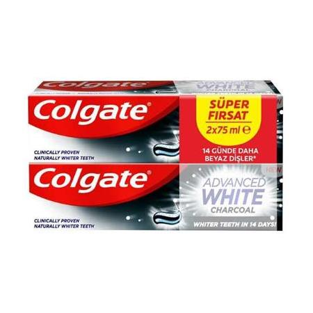 Colgate Advanced White Charcoal Diş Macunu 2 X 75 Ml